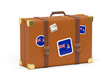 Suitcase with flag of cayman islands