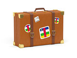 Suitcase with flag of central african republic