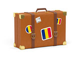 Suitcase with flag of chad