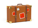 Suitcase with flag of china