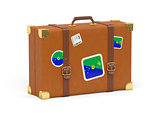 Suitcase with flag of christmas island