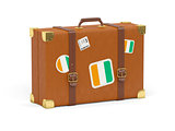Suitcase with flag of cote d'Ivoire