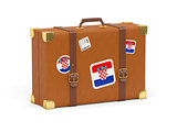 Suitcase with flag of croatia