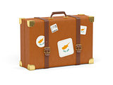 Suitcase with flag of cyprus