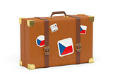 Suitcase with flag of czech republic