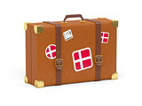 Suitcase with flag of denmark