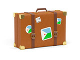 Suitcase with flag of djibouti