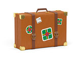 Suitcase with flag of dominica