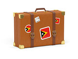 Suitcase with flag of east timor