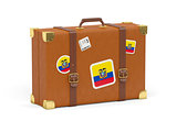Suitcase with flag of ecuador