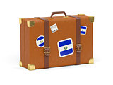 Suitcase with flag of el salvador