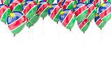 Balloon frame with flag of namibia
