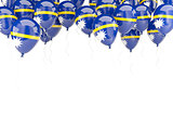 Balloon frame with flag of nauru