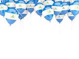 Balloon frame with flag of nicaragua