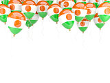 Balloon frame with flag of niger
