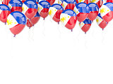 Balloon frame with flag of philippines