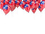 Balloon frame with flag of samoa