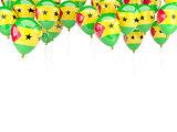 Balloon frame with flag of sao tome and principe
