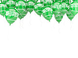 Balloon frame with flag of saudi arabia