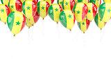 Balloon frame with flag of senegal