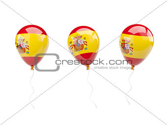 Air balloons with flag of spain
