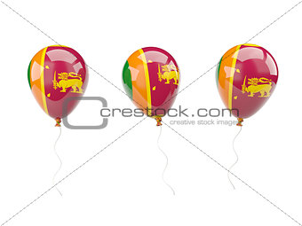 Air balloons with flag of sri lanka