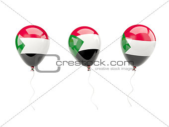 Air balloons with flag of sudan