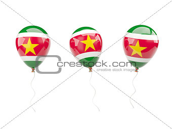 Air balloons with flag of suriname