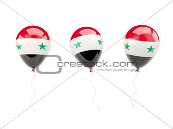 Air balloons with flag of syria