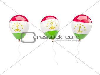 Air balloons with flag of tajikistan