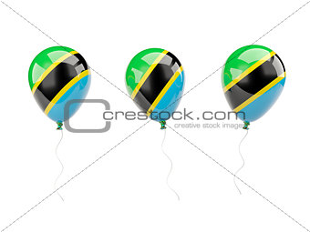 Air balloons with flag of tanzania