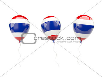 Air balloons with flag of thailand