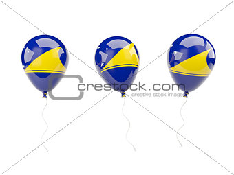 Air balloons with flag of tokelau