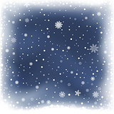 blue night snow background
