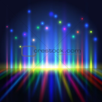 abstract color light lines