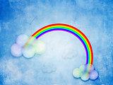 Abstract grunge rainbow