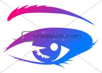 Abstract woman eye