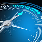 Motivation word on compass