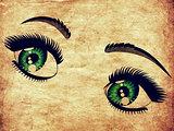 Grunge emerald eyes