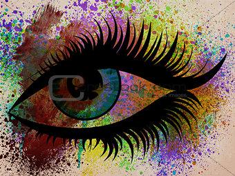 Grunge eye