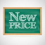 New price - the inscription chalk