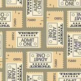Tickets seamless pattern, abstract texture
