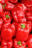 Fresh organic red bell pepper background,