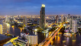 Thailand city skyline Twilight time