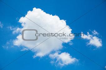 Close up high level blue sky
