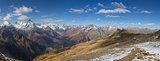 Landscape of mountains Caucasus region