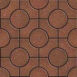 Brown Pavement - Circles inside Squares.