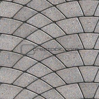 Gray Paving Slabs Laid as Semicircle.