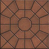 Brown Polygonal Paving Slabs.