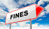 Fines on Red Road Sign.
